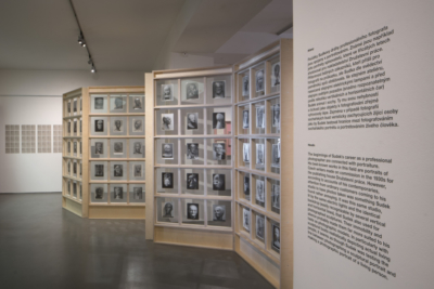 pohled do výstavy Fešandy ze šuplíků. Sudek a sochy. Foto Tomáš Souček