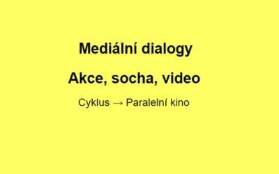 Mediální dialogy / Akce, socha, video (kino kvýstavě Fešandy zešuplíků. Sudek asochy)