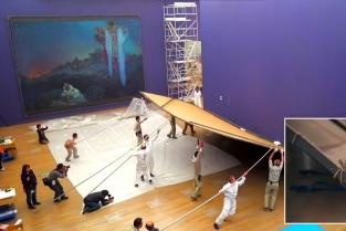 instalace Slovanské epopeje vTokiu, National Art Center, únor 2017