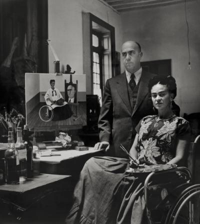 Umělecké zázemí II aIII – workshop pro děti srodiči namateřské arodičovské dovolené / kvýstavě Frida Kahlo – Fotografie