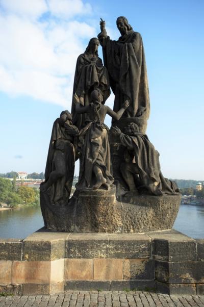 Sousoší Cyrila a Metoděje – stav před restaurováním, Karlův most