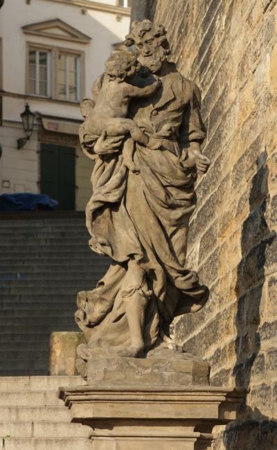 Sv. Josef – stav před restaurováním, Radniční schody, Praha 1