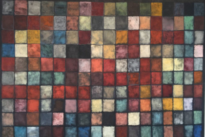 Jan Jedlička, 350 barev / colori, 2019/2020, pigmenty na japanu a plátně, 90×125 cm