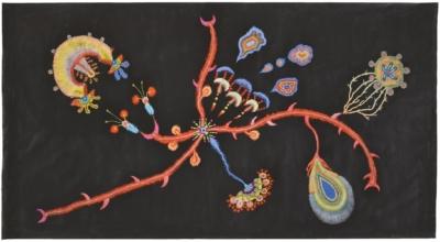 Velkoformátová malba I– workshop pro děti srodiči namateřské arodičovské dovolené / kvýstavě Erika Bornová: Šílenství je stráž noci