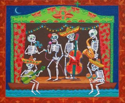 Příběh osmrti Dona Paulo anesmrtelné lásce Dony Meri / loutkové divadelní představení / kvýstavě Frida Kahlo – Fotografie