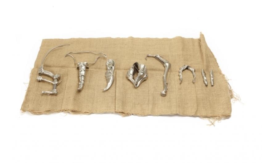 Chirurgické nástroje určené k operacím mutantek (rekvizity); Dead Ringers / Příliš dokonalá podoba, 1988; režné plátno, poniklovaná mosaz. Sbírka David Cronenberg, Referenční filmotéka TIFF