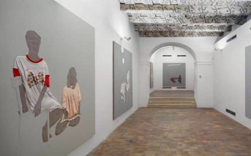 pohled do výstavy Michal Pěchouček: Hodiny v umění, Dům U Kamenného zvonu 2011, foto Tomáš Souček