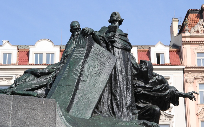 Ladislav Šaloun, monument of master Jan Hus on Old Town Square in Prague