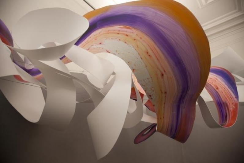 pohled do výstavy Hana Hillerová: Exist, Dům U Zlatého prstenu 2012