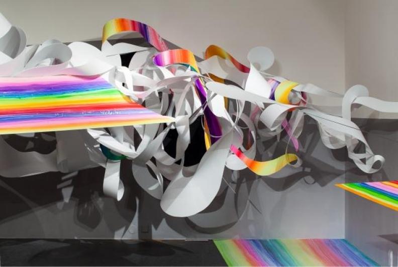 pohled do výstavy Hana Hillerová: Exist, 24. Dům U Zlatého prstenu 2012, foto Tomáš Souček
