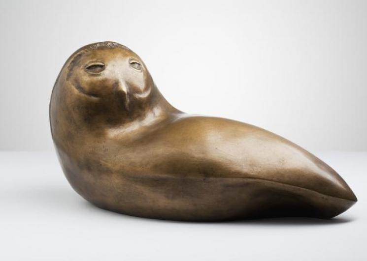 Vincenc Vingler, Sova, 1980-81, bronz, d. 47 cm, soukromá sbírka