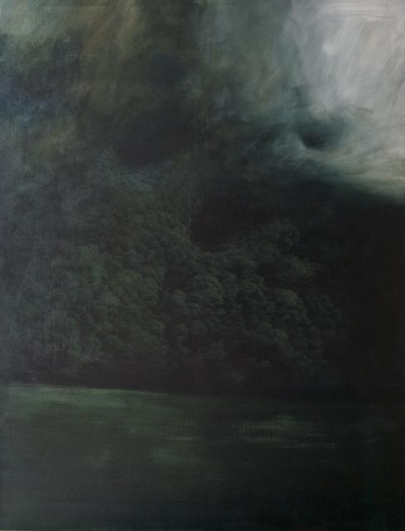 Jan Uldrych, Bez názvu, 2011, akryl, olej na plátně, 145×200cm