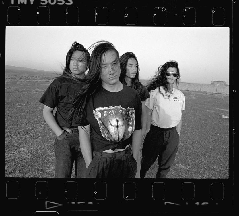 Xiao Quan, Members of the Tang Dynasty rock band: (from left) Zhang Ju, Liu Yijun, Ding Wu, Zhao Nian, 1993, Xinjiang