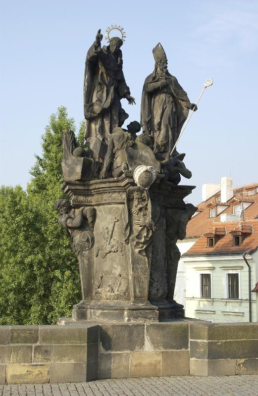 St Vincent Ferrer and St Procopius Sculptural Group – before restoration, Charles Bridge