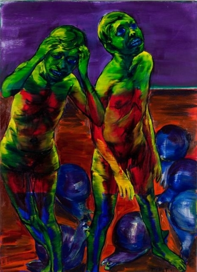 Lubomír Typlt, Pozor křehké, 2008, olej, plátno, 200×145 cm