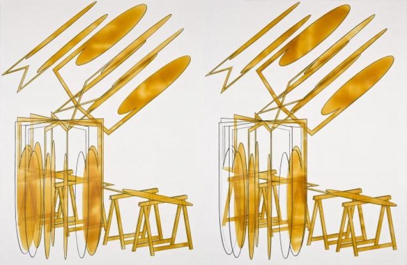 Lubomír Typlt, Turbíny, 2008–2010, olej, plátno, 260×400 cm