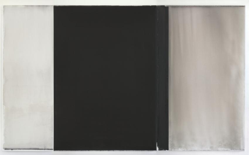 Jaromír Novotný, Černá #28, 2012, akryl na plátně, 200×330 cm