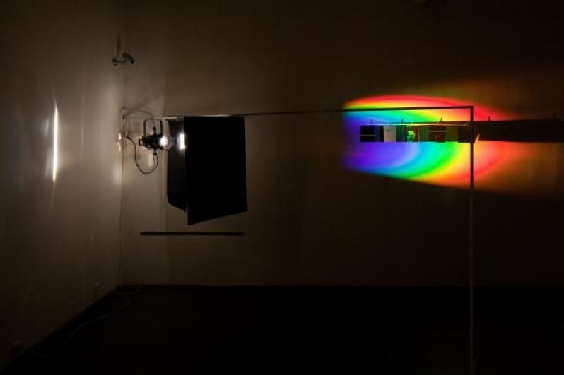 Richard Loskot, Jednoduchá věc, světelná instalace, 2012. Foto Tomáš Souček
