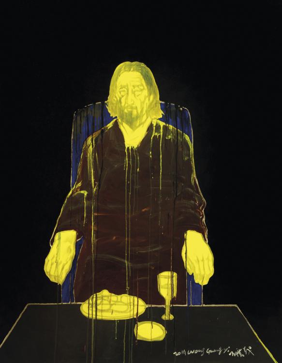 Wang Guangyi, Každodenní život č. 2, 2014, olej a akryl na plátně, 180×140 cm