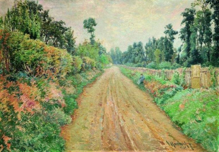 Václav Radimský, Cesta v Giverny (Claude Monet), 1894