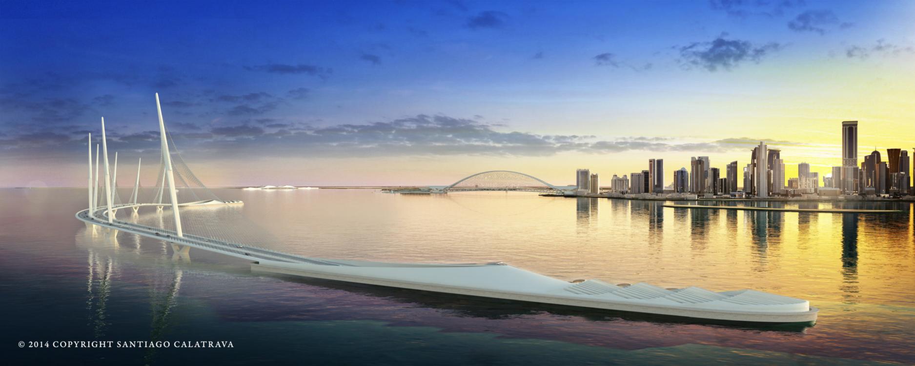 Qatar Doha Sharq Crossing, © Santiago Calatrava LLC