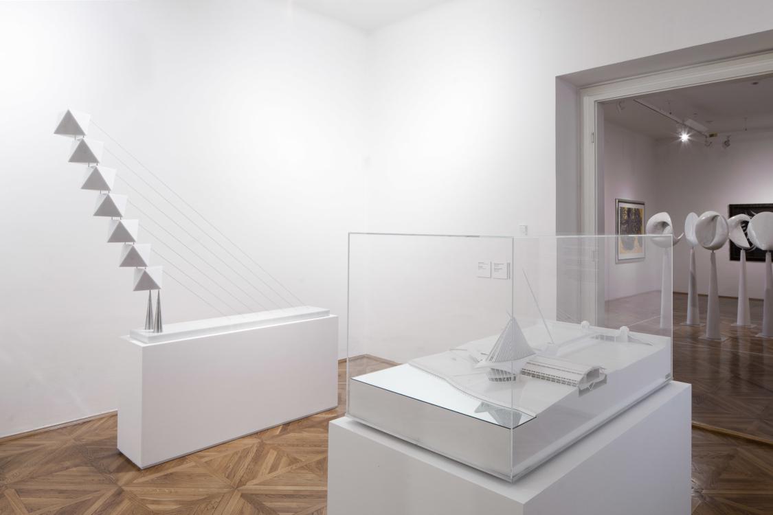 pohled do výstavy Santiago Calatrava: Art and Architecture, Dům U Kamenného zvonu, 2018. Foto Tomáš Souček