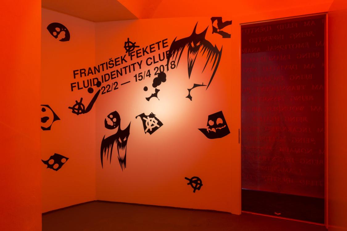 pohled do výstavy Start up: František Fekete – Fluid Identity Club. Colloredo-Mansfeldský palác, kočárovna, 2018, Foto Oskar Helcel
