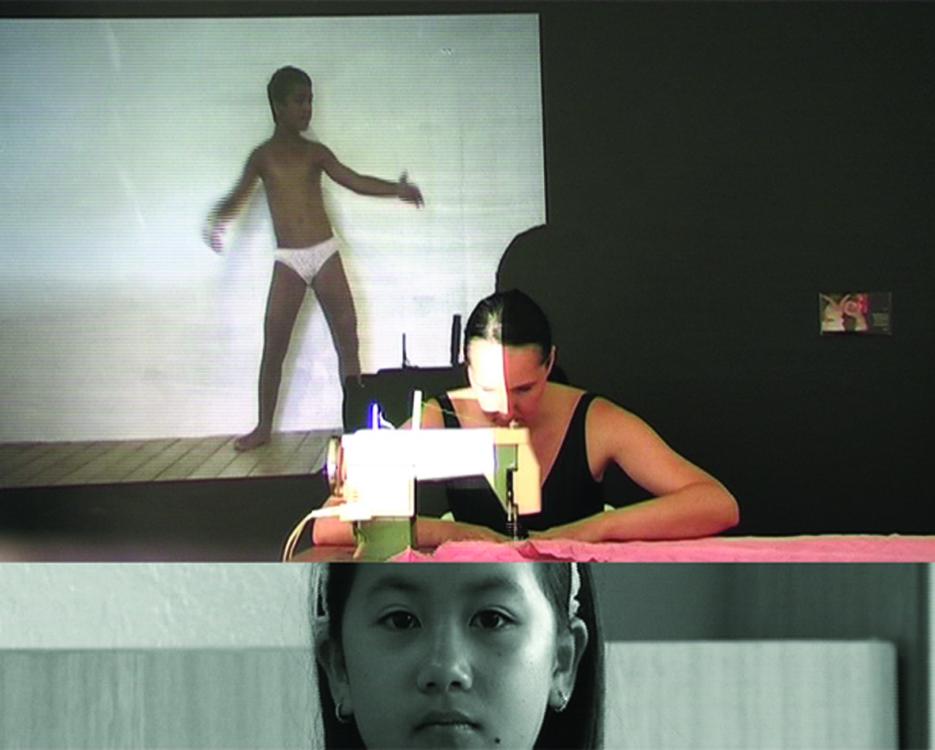 Sráč Sam, Seamstresses, 2006, frame from video, 5:26 min