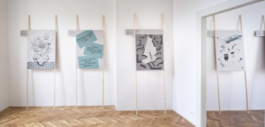 pohled do výstavy Tadeáš Podracký: Habitus, Colloredo-Mansfeldský palác 2013, foto Tomáš Souček