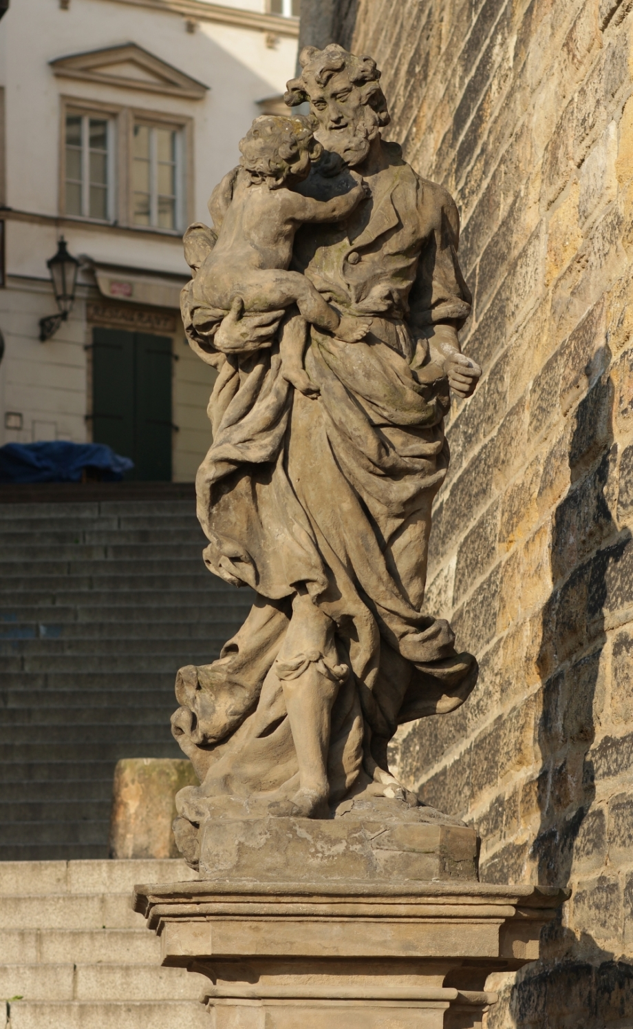 Statue of St. Joseph – before restoration, Radniční schody, Prague 1