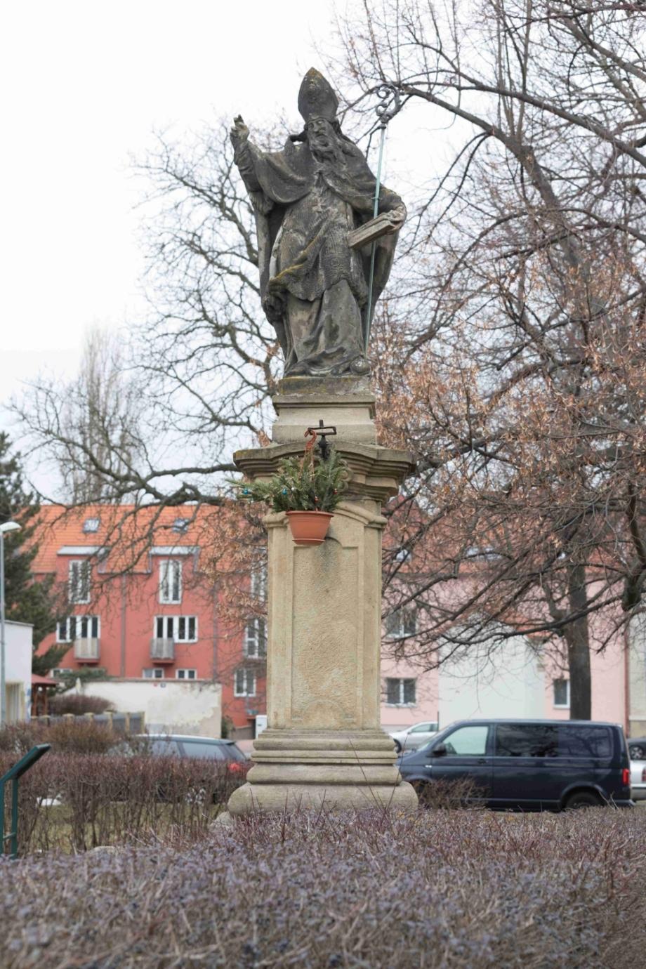 Statue of St. Adalbert – before restoration, Prague-Kbely