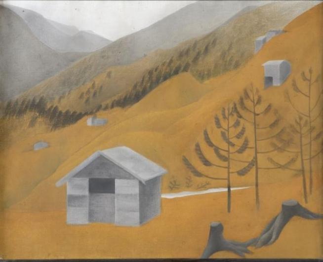 Vlasta Vostřebalová Fischerová, Z Alp II (1923-24), soukromá sbírka