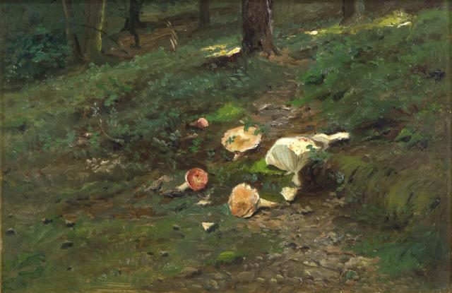 Brožík Václav, Lesní interiér (Houby v lese), 1891