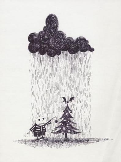 Bez názvu (Miscellaneous), 1989, pero a inkoust na papíře, 22,9×17,8 cm, soukromá sbírka. © 2014 Tim Burton
