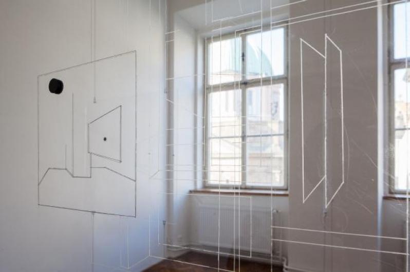 pohled do výstavy Jakub Jansa: Engstligenalp, Colloredo-Mansfeldský palác 2014. Foto Tomáš Souček