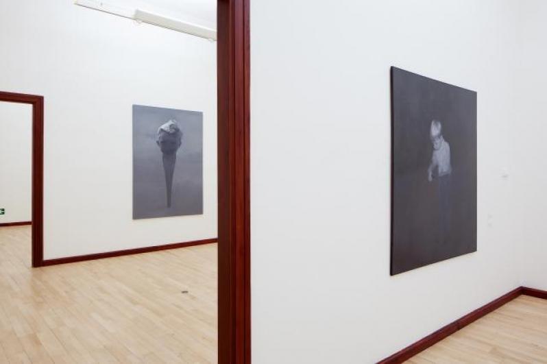 pohled do výstavy Petr Nikl: Hra o čas, Městská knihovna, 2. patero, 2014. Foto Tomáš Souček