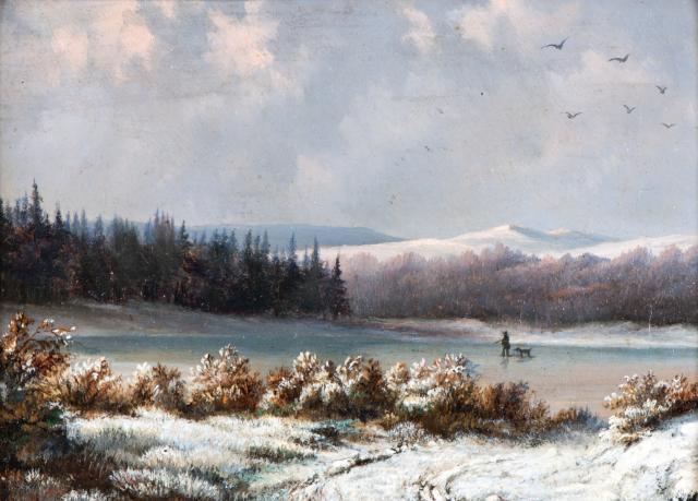 Waldhauser Antonín, Na zamrzlém rybníku, kolem 1860