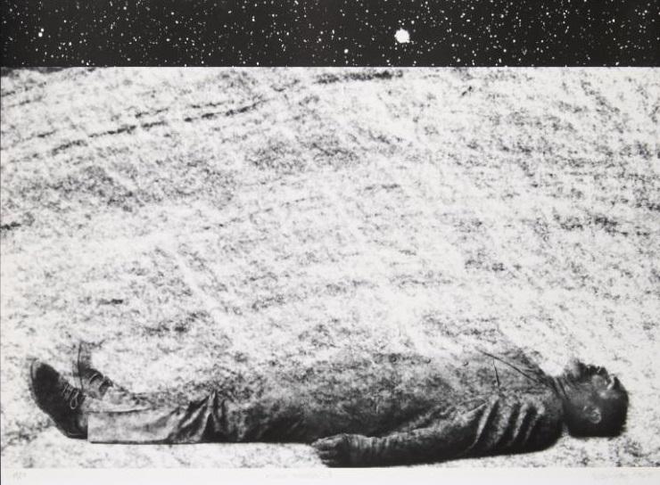Rudolf Sikora, z cyklu Pozemšťan I, 1996–1998, serigrafie