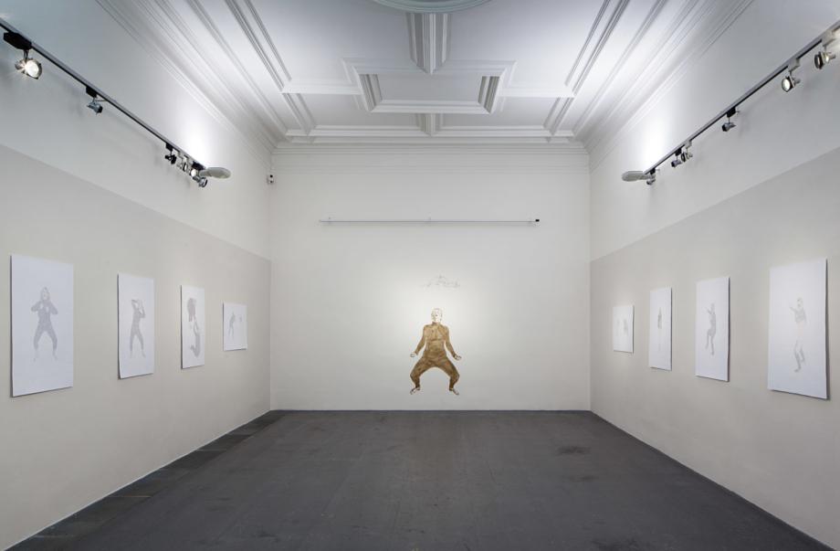 pohled do výstavy Kateřina Adamová: Středně velký plachý tvor, Dům U Zlatého Prstenu 2013, foto Tomáš Souček