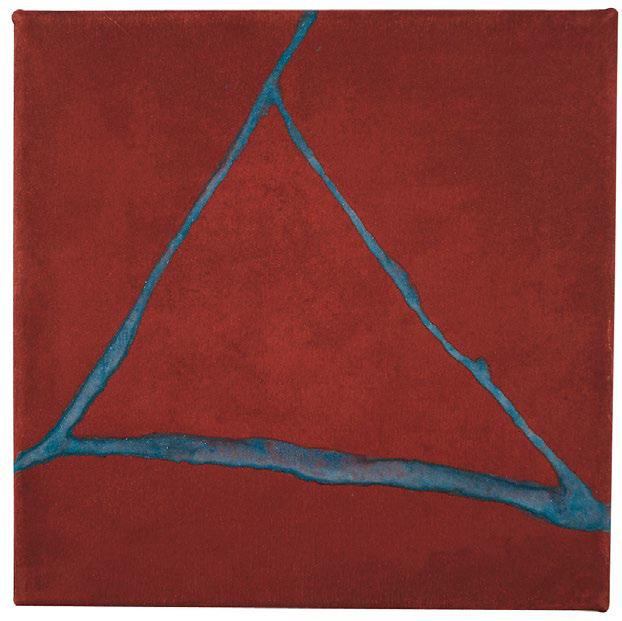 Jan Jedlička, Maremma X – Rosso Blu, 1997-2001, pigmenty na japanu, 20×20 cm