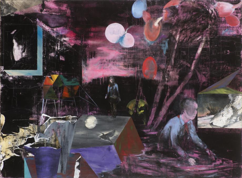 Josef Bolf, Cassiopeia, 2016–2017, olej na plátně, 140×190 cm