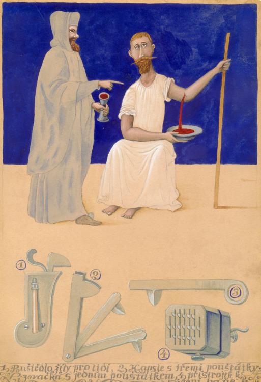 František Skála, Felčar – Zapomenutá řemesla, 1984, akvarel, 280×200 mm