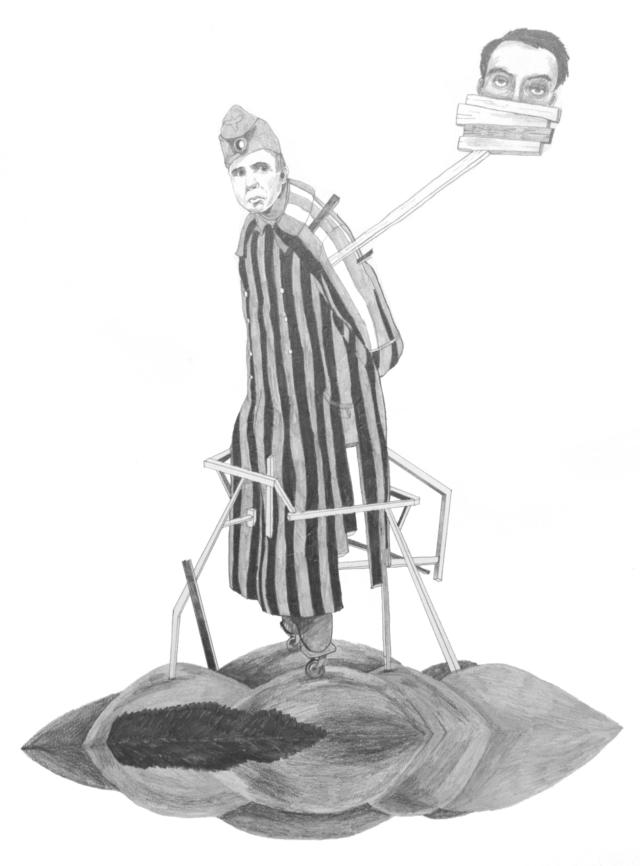 Jiří Franta, David Böhm, Bez názvu, 2012, tužka na papíře, 65×50 cm