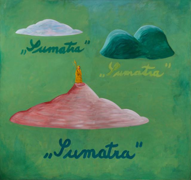 Tomáš Císařovský, Sumatra, 1988, akryl na plátně, 190×205 cm