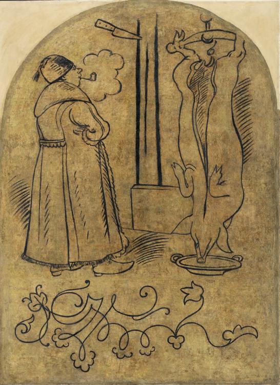 Mikoláš Aleš, Zabijačka, 1891