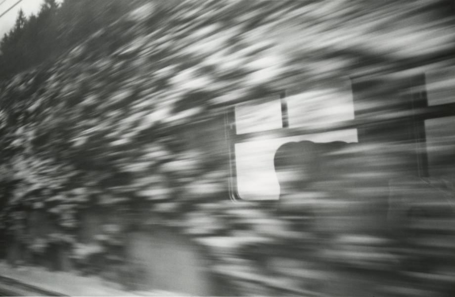Jan Jedlička, Zimní cesta k moři, 1995, černobílá fotografie