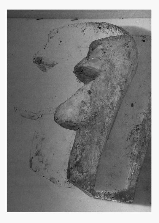 Jiří Thýn, spatial morphology No. A_B0A6752, (origin: H. Wichterlová, Portrait of Vincenc Makovský, 1928), 2021, black and white photo, 100×140 cm
