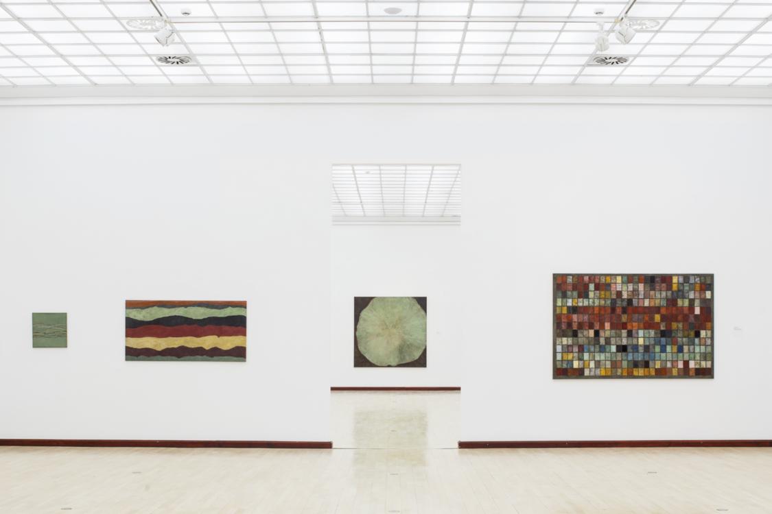 pohled do výstavy Jan Jedlička, Městská knihovna, 2. patro, 2021. Foto Tomáš Souček