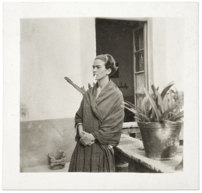 Frida Kahlo in the Blue House, Anonymous, 1930 © Frida Kahlo Museum