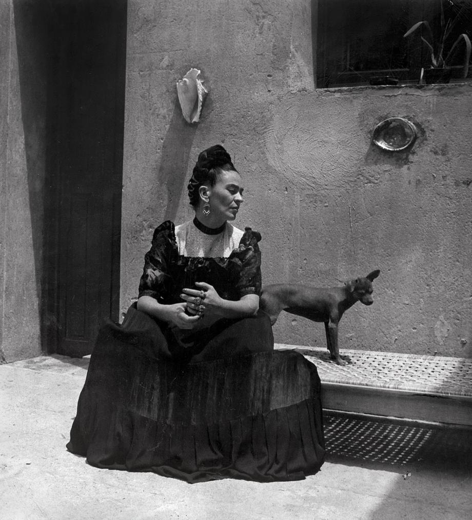 Frida Kahlo, Lola Álvarez Bravo, kolem roku 1944. © Muzeum Fridy Kahlo